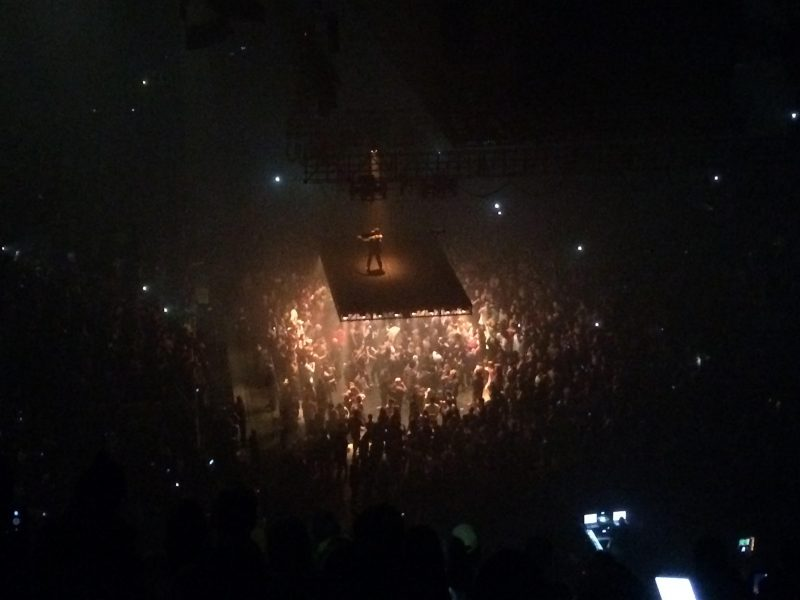 The floating stage was impressive at Kanye West's MTS Centre show. /ANNE MARTIN