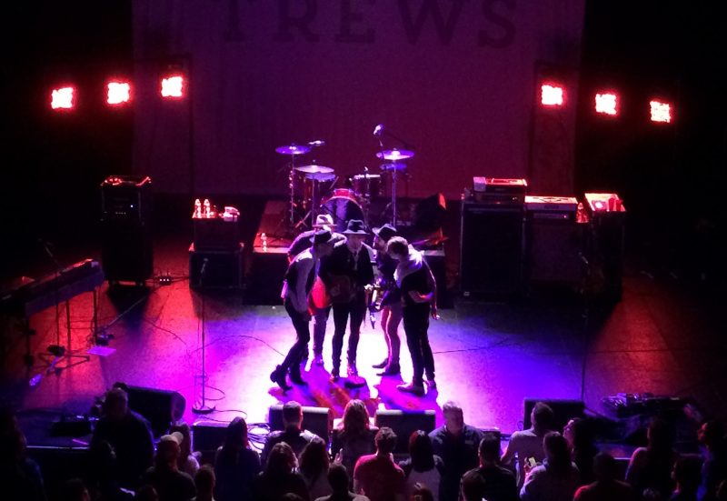 The Trews close out their show on stage at The Burt. /ANNE MARTIN