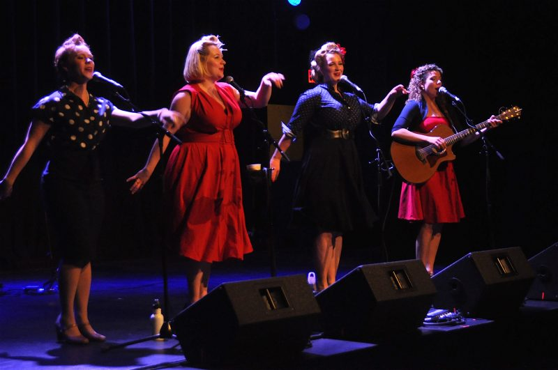 The band is nominated for Best Vocal Group this weekend at the Folk Music Canada Awards