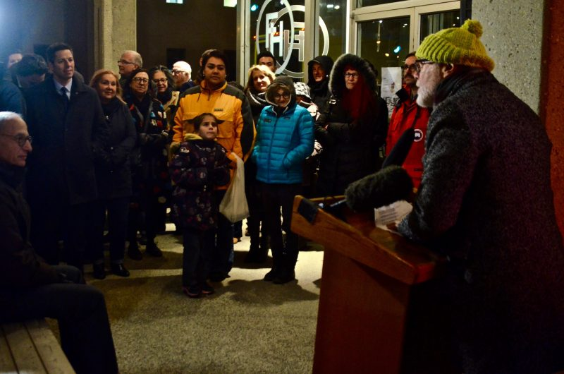 """Bill Plechet told the crowd that, """"It's been a pleasure working in your city."""""""