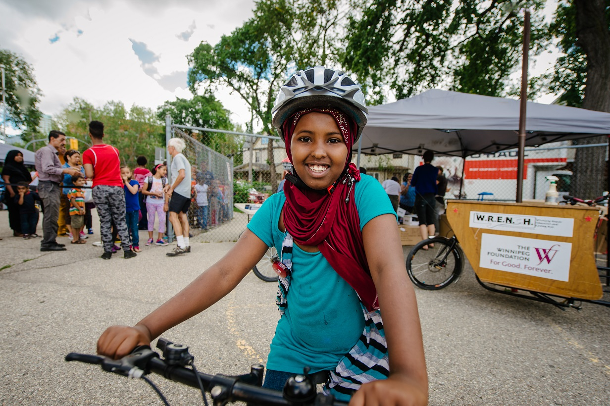 Hanan Mohamud is happy with her new bike.