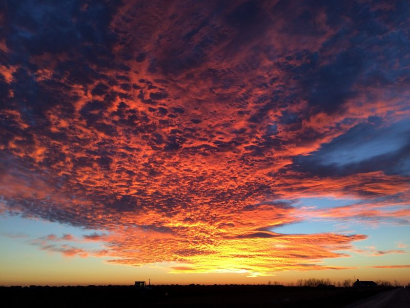 A breathtaking sky the evening before the concert. /ANNE MARTIN