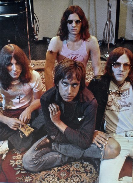 The Stooges at Olympic Studios in England while recording Raw Power. Apparently half of the songs were written the night before in the hotel room.