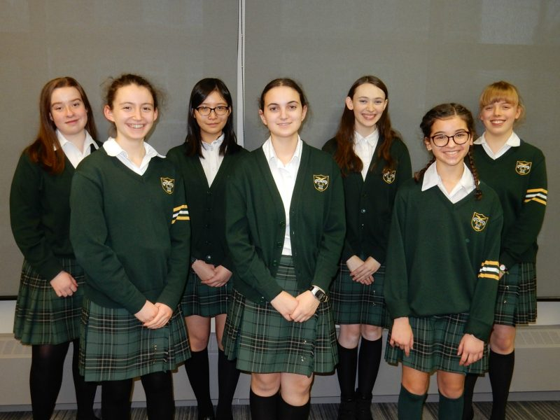 Members of Balmoral Hall School's debate and public speaking team who competed in a provincial tournament in December 2016. /JENNIFER PAWLUK