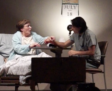 Cheryl Soluk as Florence (left) and Andres Collantes as Ulysses (right)