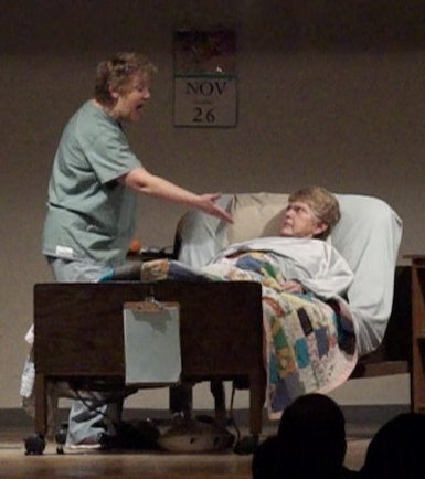 Melanie Shumilak as Nora (left) Margaret Gwiazda as Sophie (right)