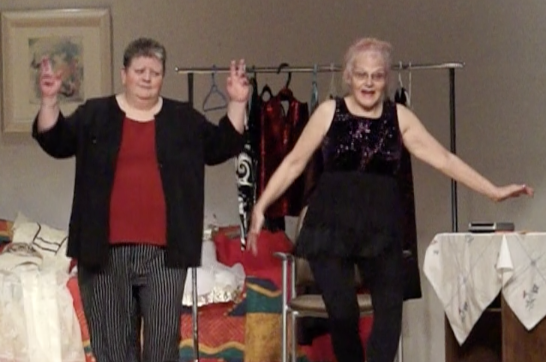 Dawn Hillstrom as May (left) and Beverley Grace as Jane (right)