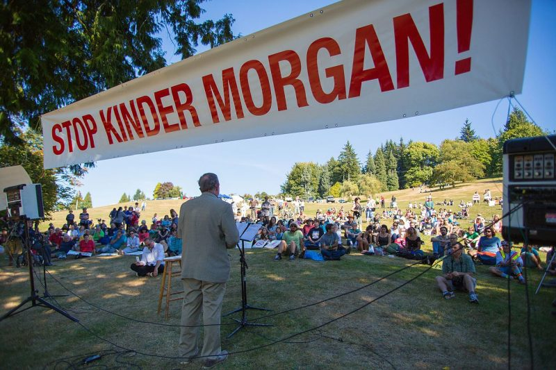 Protest rally against Kinder Morgan in Burnaby, BC. /MARK KLOTZ