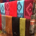 Scarves made from alpaca wool.