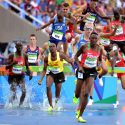 Sgt. Hillary Bor, a Soldier in the U.S. Army World Class Athlete Program stationed at Fort Carson, Colo., runs to an eighth-place finish in the men's 3,000-meter steeplechase with a personal-best time of 8 minutes, 22.74 seconds on Aug. 17 at the 2016 Rio Olympic Games in Rio de Janeiro. Brimin Kiprop Kipruto of Kenya won the race in an Olympic record time of 8:03.28, followed by silver medalist Evan Jager (8:04.28) of Team USA and bronze medalist Ezekiel Kemboi (8:08.47) of Kenya. U.S. Army photo by Tim Hipps, IMCOM Public Affairs #SoldierOlympians #ArmyOlympians #ArmyTeam #GoArmy #TeamUSA #ArmyStrong #RoadToRio