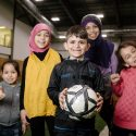 Newcomer youth find friends and structure through practice and play