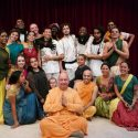 Bhaktimarga Swami (center) with actors in India