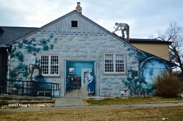 Mural in St.Vital is a reminder that with nicer weather comes time for home renovations <br /><em> by Doug Kretchmer </em>