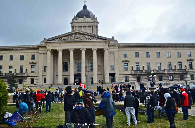 Hundreds converged on the Legislative grounds for the annual 420 pot rally which rolled up -- or rather, wrapped up after 4:20pm on 4.20.15 <br /><em> by Doug Kretchmer </em>