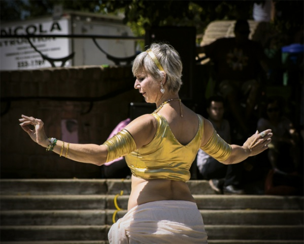 Belly dancer at the Oodeena Circle. PHOTO by Kylene Avendano