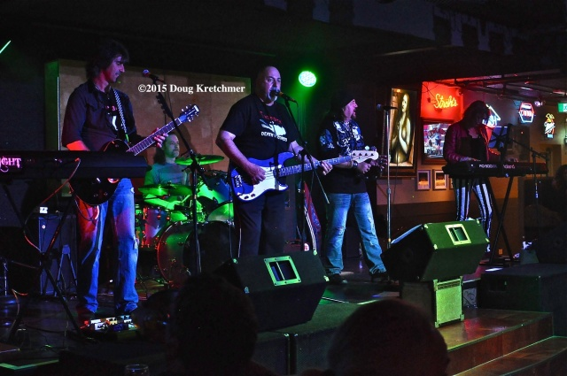 Swanage played Joe's Garage last night. The band played classic rock covers as well as a tribute to Phantom of the Paradise. They'll also perform at Phantom at the Met (Dinner and a Movie) Oct. 30. PHOTO by Doug Kretchmer