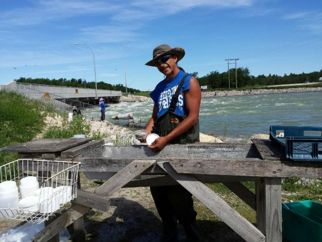 The Minnow Master at Fairford First Nation where you can buy your bait, and have your hook baited. PHOTO by Marie LeBlanc