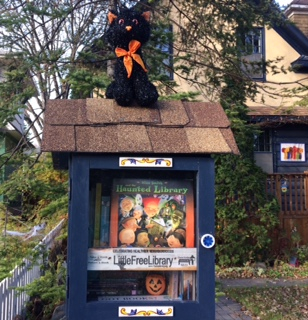 Halloween's a-coming to a Little Free Library near you. PHOTO by Heather Emberley
