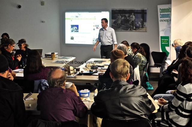 The CNC Journalism class at Millennium Library was full of enthusiastic writers and aspiring writers. The session covered review writing. Next session is Thursday at the Free Press Cafe and covers videojournalism. PHOTO by Doug Kretchmer