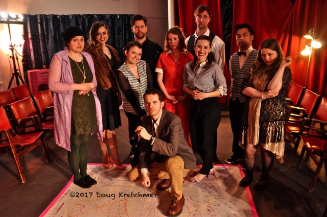 The cast of Agatha Christie's The Hollow delivered a superb performance. One more show at 2pm @ The Rocker 3rd floor 91 Albert St. Last day of ChristieFest. PHOTO by Doug Kretchmer