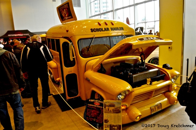 Hot-rods, motorcycles, souped up cars and...school buses? Wish my old school bus was as cool as the Scholar Hauler. World of Wheels is on at the RBC Convention Centre 10-6 Sunday. PHOTO by Doug Kretchmer