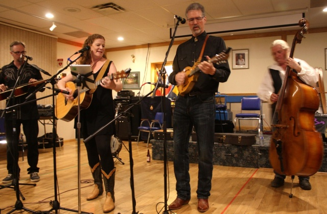 Hearts on Fire warmed up the audience with feel-good music. The evening was hosted by the Transcona bluegrass jam night at the Legion Friday evening. PHOTO by Suzanne Hunter