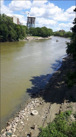 The meandering Assiniboine River as seen from Osborne Street Bridge. PHOTO by Diane Maendel