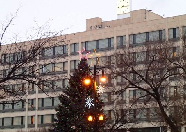 Lumps of coal in your socks already? Not much under the tree at City Hall this holiday season - a 25 cent bus fare hike and a parking rate increase are in the works. PHOTO by Greg Petzold