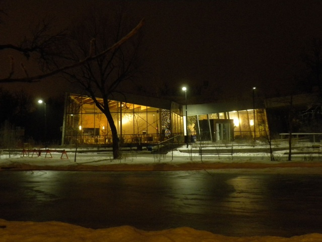 Early morning at the Qualico Family Centre in Assiniboine Park <br /><em> by Jenny Gates </em>