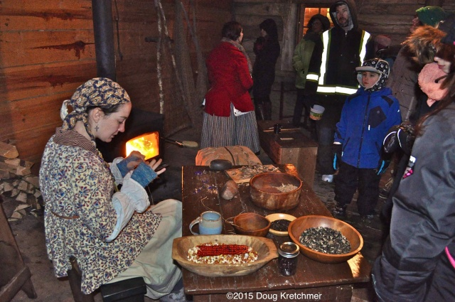Costumed interpreters demonstrate what life was like for Voyageurs in one of the many cabins at Festival du Voyageur (on til Sunday) <br /><em> by Doug Kretchmer </em>