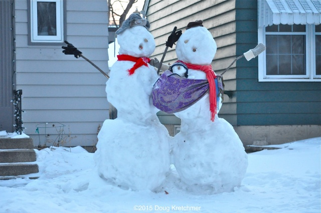 Congrats to Mr. and Mrs. Snowman on the birth of their Snowbaby <br /><em> by Doug Kretchmer </em>