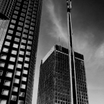 Black and white downtown.<br /><em>Submitted by Oliver Rupert</em>