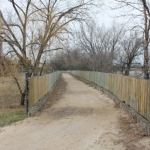 Gravel footbridge near Red River.<br /><em>Submitted by Alyssa McDonald</em>