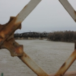 Old train trestle across Red River seen from Louise Bridge.<br /><em>Submitted by Alyssa McDonald</em>