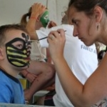 Some serious face painting at this year's Winnipeg Folk Festival.<br /><em>Submitted by Noah Erenberg</em>