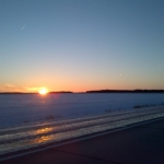Sunrise over frozen prairie.<br /><em>Submitted by Noah Erenberg</em>