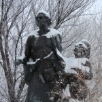Selkirk settlers in the snow.<br /><em>Submitted by Noah Erenberg</em>