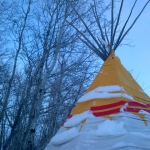 Winter tee pee.<br /><em>Submitted by Noah Erenberg</em>