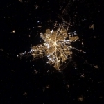 Winnipeg at night, from space.<br /><em>Tweeted by Chris Hadfield @Cmdr_Hadfield</em>