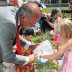 Releasing ladybugs at Millennium Library park opening<br /><em>Submitted by Jenna Friesen</em>