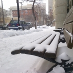Snowy bench.<br /><em>Submitted by Noah Erenberg</em>