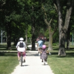 Wheeling along Wellington Crescent<br /><em>Submitted by Kerry Ryan</em>