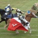 Jousting at the Medieval Festival, Cooks Creek, MB.<br /><em>Submitted by Nancy Mak.</em>