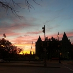 Breathtaking sunset at UofW.<br /><em>Submitted by Sangeetha Nair</em>