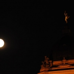 Full moon over Legislature.<br /><em>Submitted by C. Napper</em>