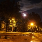 Super moon lights up city streets.<br /><em>Submitted by Oliver Rupert</em>