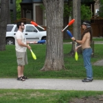 Jugglers at Vimy Ridge Park.<br /><em>Submitted by Oliver Rupert</em>