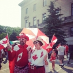 Celebrating Canada's birthday.<br /><em>Submitted by Sangeetha Nair</em>