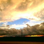 Sunset between rain showers.<br /><em>Submitted by Karina Cardona Claros</em>