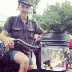 Bike with aquarium -- cool creation of Fringe Fest enthusiast Doug Sutherland.<br /><em>Submitted by Sangeetha Nair</em>